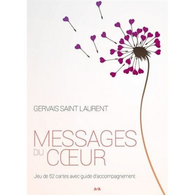Cartes Message du coeur. Gervais Saint-Laurent